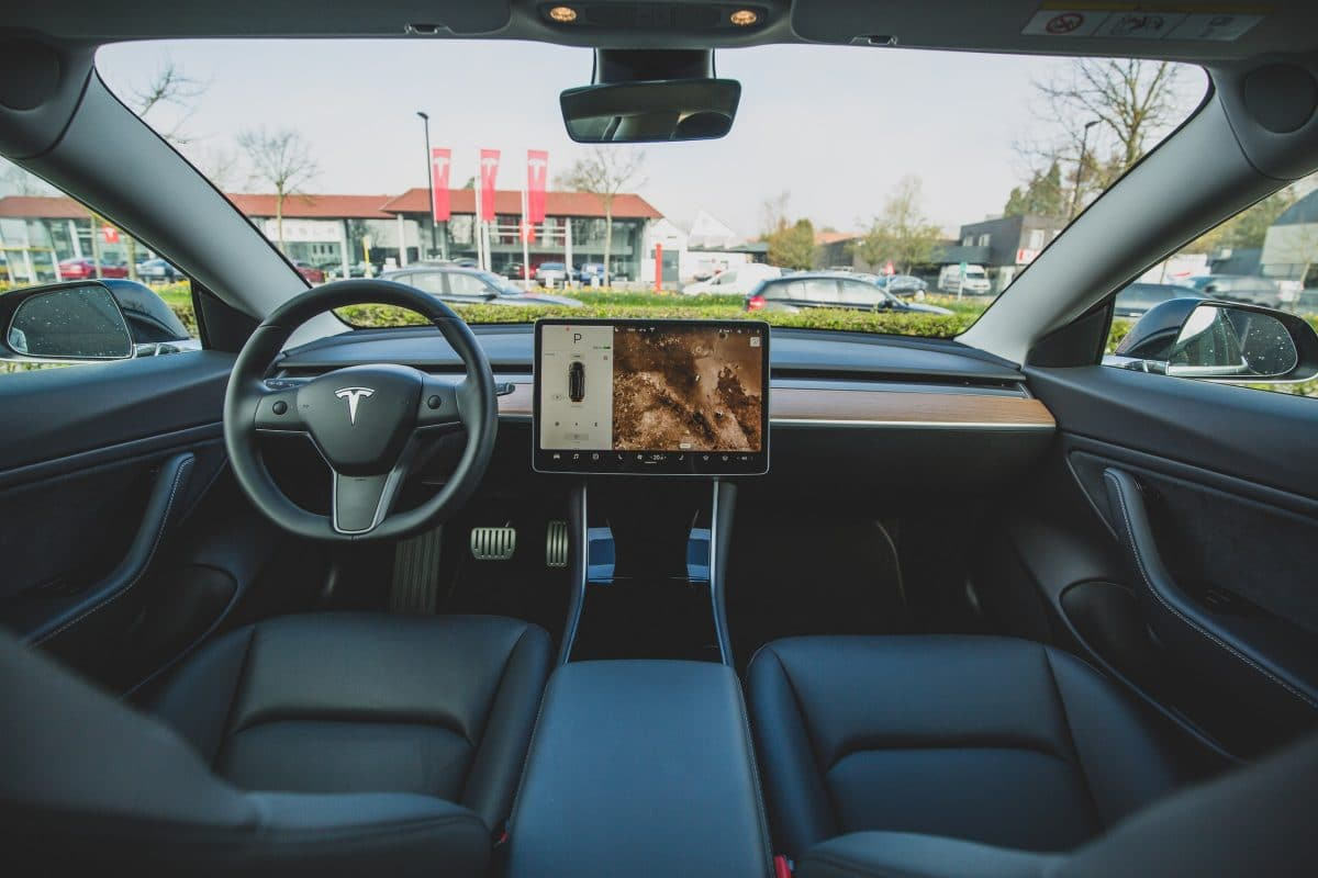 teslas leather seats